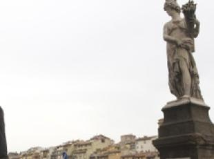 Man climbs onto Florence bridge in underpants