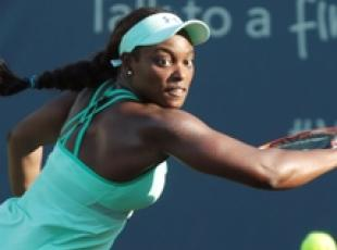 Sloane Stephens in azione al Western & Southern Open in Ohio