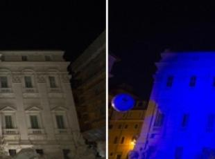Trevi Fountain, Campidoglio lights out for Barcelona