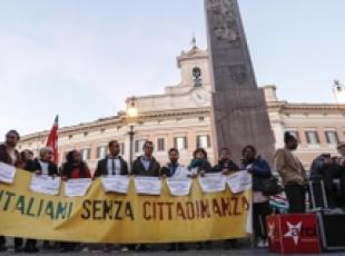 Ius Soli: sit in favore del si in Piazza Montecitorio