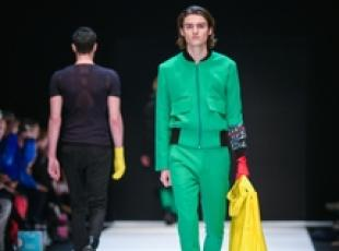 Modelli in passerella per Ivanman al Berlino Fashion Week