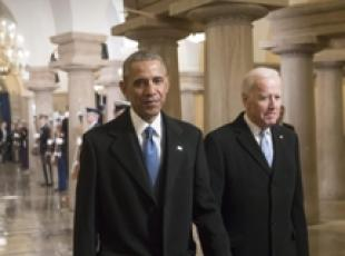 Obama e Biden eroi in un cartone animato