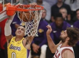 NBA: un momento di Los Angeles Lakers vs Chicago Bulls