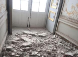 Alarm after roof falls in at Caserta palace