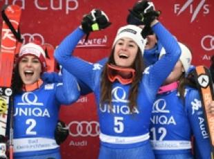 Skiing: Italian women claim downhill clean sweep