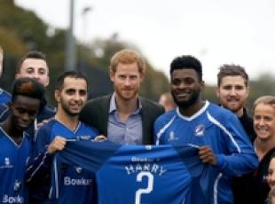 GB: il principe Harry visita UCLan Sports Arena di Preston,
