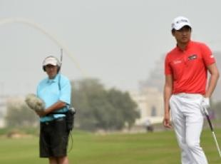 Jeunghun Wang al torneo di golf in Qatar