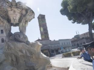 Motor oil poured into Rome fountain