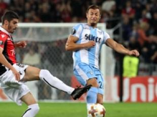 Soccer: Lazio, Atalanta win in Europa League, Milan held