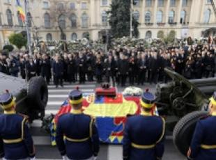 I funerali di Re Michele I a Bucarest, in Romania
