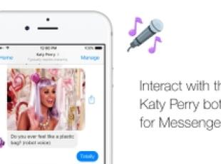 Katy Perry ha un 'bot' su Facebook