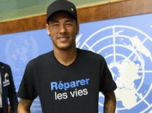 Neymar ambasciatore Onu per l'Handicap International