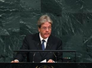 >>>ANSA/ Challenges can't be resolved with walls-Gentiloni at UN