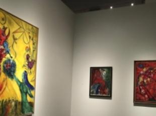 Opere di Chagall esposte al Los Angeles County Museum of Art